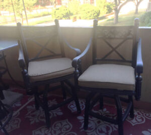 2 High Top Patio Bar Stools - Almost New
