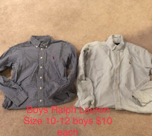Roots, Blurr, Ralph Lauren, Abercrombie Boys' Dress Shirts $10ea