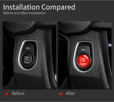 Car Engine Start Stop Button Replace Cover For BMW F20 F30 F48 F15 G30 F80 F82