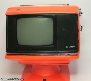 TV Sharp début '70 retro deco vintage kitsch