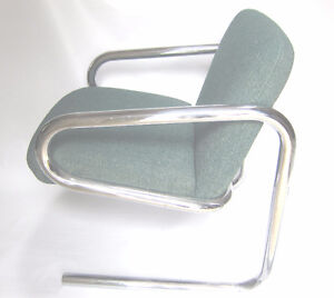 Mid Century Modern Tubular Chrome Chair Bauhaus Style