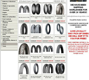 ALWAYS THE LOWEST PRICE ON MOTORCYCLE TIRES IN ONTARIO :)