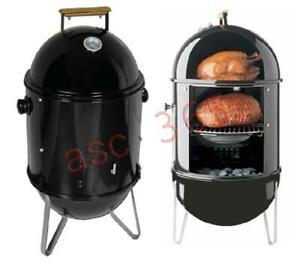 BBQ Charcoal Smoke Grill Charcoal Wood Patio 210042