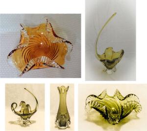 Canadian Chalet Vintage Art Crystal