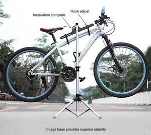 Telescopic  Freestanding Bicycle Repair Rack and Storage Stand