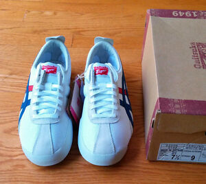 NEW Onitsuka Tiger by Asics Fencing (white/blue) size 7.5