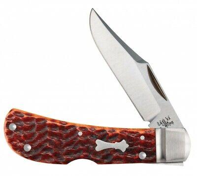 Case xx Tony Bose Lanny's Clip Lockback Knife Jigged Chestnut Bone 8834 154-CM