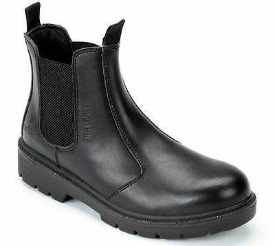 Blackrock Dealer Steel Toe Cap Protective Safety Slip On Boot Black / Brown Brown Steel Toe Slip