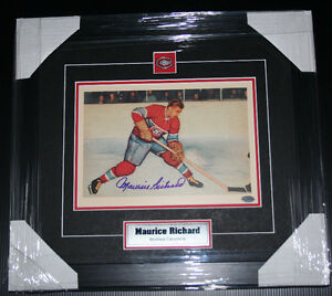 "Maurice ""Rocket"" Richard Autographed Pic Professionally Framed"