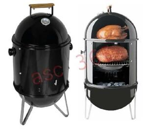 Charcoal Smoke Grill BBQ Wood Patio Smoker Cooker Chip 210042