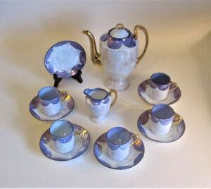 Phenix Czecho Slovakia Art Deco Lusterware Coffee Pot Demitasse