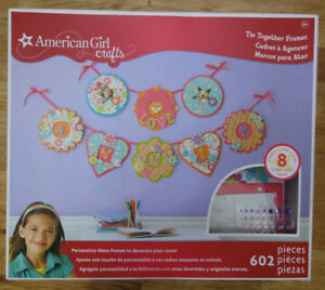 American Girl Crafts - Tie Together Frames - girl, decoration