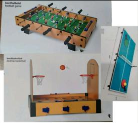 GAME BUNDLE table tennis football basketball Bordfodbold Bordbasketbal