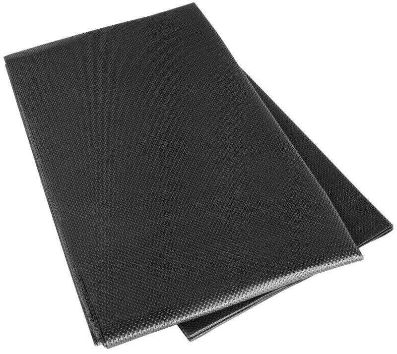 Kofferraum Anti Rutsch Matte, Gummi Matte 100x120 schwarz beidseitig beschichtet