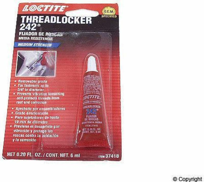 Loctite 37418 All purpose Blue Medium Strength Threadlocker 242 Tube 0.20 oz