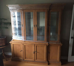 Light Brown China Cabinet For Sale