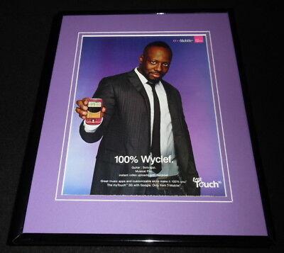 Wyclef Jean 2009 T Mobile Framed 11x14 ORIGINAL Advertisement