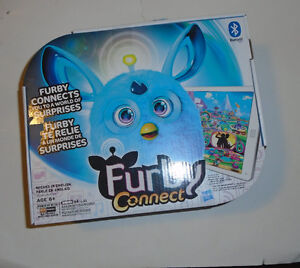 New Furby Connect Blue and Coral in hand