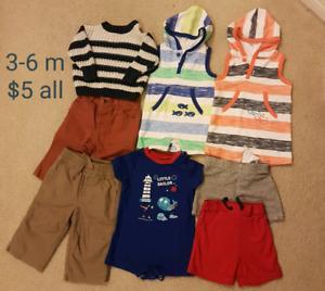 Boy's clothes 3-6m $5 all