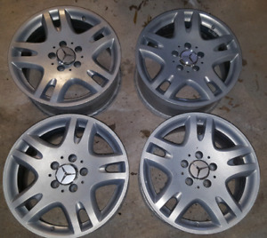 Rims, Aluminum Alloy Mercedes-Benz, 16 inch, 8 inch wide, as is.