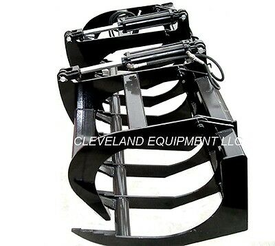 New 66 Ld Root Grapple Attachment Skid-steer Loader Bucket Rake Tine Bobcat Cat