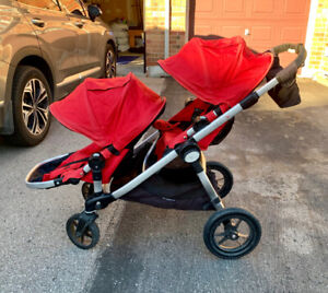 Baby jogger city select double stroller with accessories