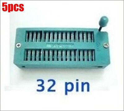 5pcs 32 Pin Universal Zif Dip Tester Test Socket Us Stock Z