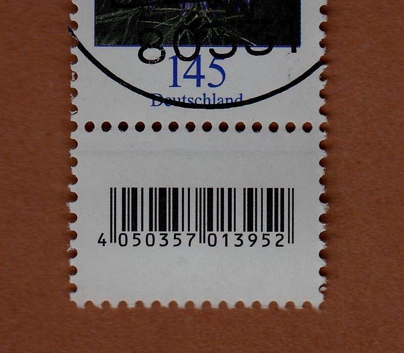 500er-Rolle Ersttagsstempel PLATTENKANAL 145 EAN-Code UNTEN Mi.-Nr. 3351 2.1.18