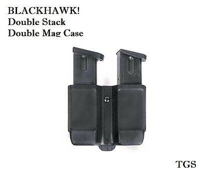 NEW BLACKHAWK! Double Stack Double Mag Case Fits 9 mm, 10mm, .40 Cal, .45 Cal Blackhawk Double Mag Case