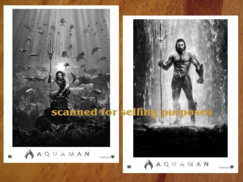 AQUAMAN rare PRESS PHOTO SET of 40 B&W Stills DC Jason Momoa AMBER HEARD Kidman