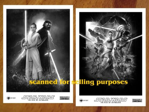 STAR WARS The Rise Of Skywalker RARE PRESS PHOTO SET of 45 B&W Stills EPISODE 9