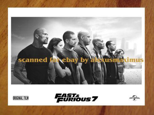 Fast and the Furious 7 RARE PRESS PHOTO SET of 40 stills PAUL WALKER Vin Diesel