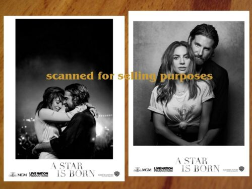 A STAR IS BORN rare PRESS PHOTO SET of 40 B&W Stills LADY GAGA Bradley Cooper