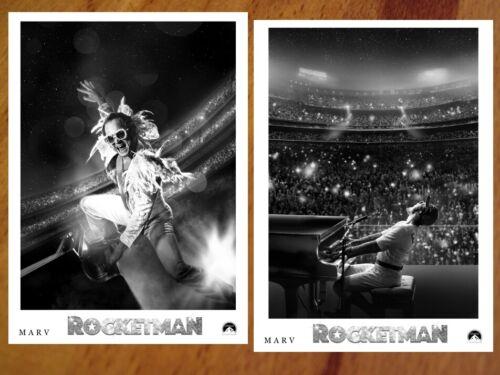 ROCKETMAN Movie rare PRESS PHOTO SET 40 B&W Stills ELTON JOHN Taron Egerton BELL