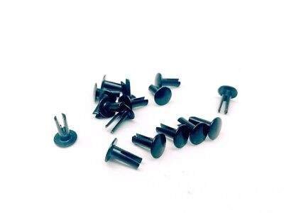 18 X 38 Black Split Rivet 100 Pack