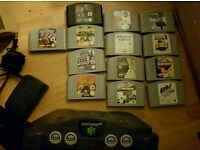 N64 with 13 games