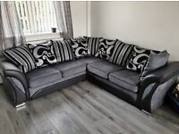 ❤️ Don't wait...! Order now Super sale 🥀on SHANNON BLACK AND GREY sofa👍👍 Corner & 2+3seater🌴