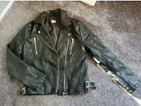 Girls Faux Leather Jacket. Age 13-14yrs. Excellent Condition