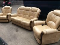 Italian 3 piece suite with electric recliner chair excellent condition free delivery local