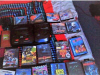 saga mega disc2, cartridge and disc,18 games (6 r cd's ) great con postage is exta