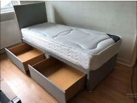 Brand New Quality Single Size Divan Bed & Mattress