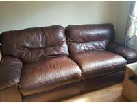Leather suite recliners...