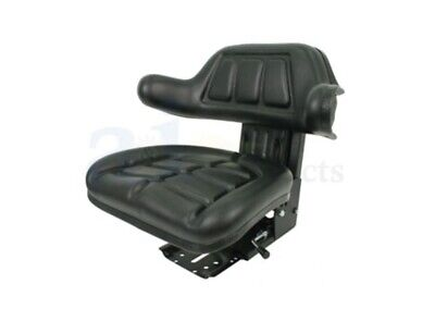 Suspension Tractor Seat W Arm Rest Backrest - Compact Garden Tractor Mower