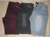 "Men's 3 x Pairs Firetrap Faded Shorts Size Medium 32""-34"" Like New"