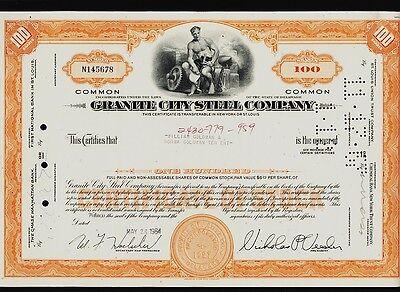 GRANITE CITY STEEL COMPANY  Illinois IL( now U.S. Steel) iss to William Goldman