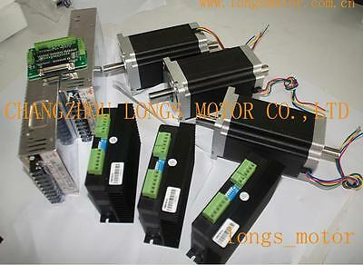 3axis Nema 34 Stepper Motor Dual Shaft1600oz Cnc Kit Or Mill Free Shipping