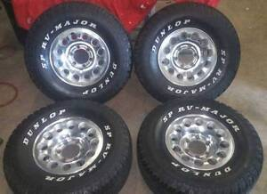 Set of 4 - 15x7 mags and 10r15 Dunlops 75% tread suit toyota L/C Forrestdale Armadale Area Preview