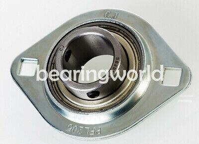 "NEW SBPF205-16 High Quality 1/"" Set Screw Pressed Steel 3-Bolt Flange Bearing"