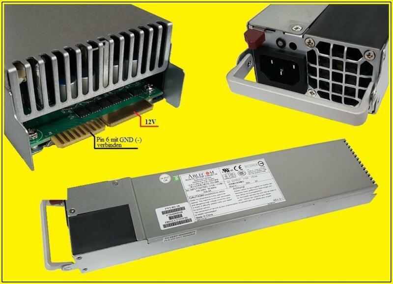 Ablecom Power Supply Netzteil PWS-801-1R 800W 12V 66A REV:6.1  Server 1 Stück