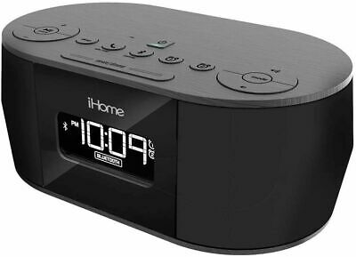 iHome iBT38G Bluetooth Stereo Dual Alarm Clock Radio with USB Cord New
